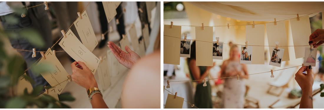 fuji instax photos at villa dalmacija wedding