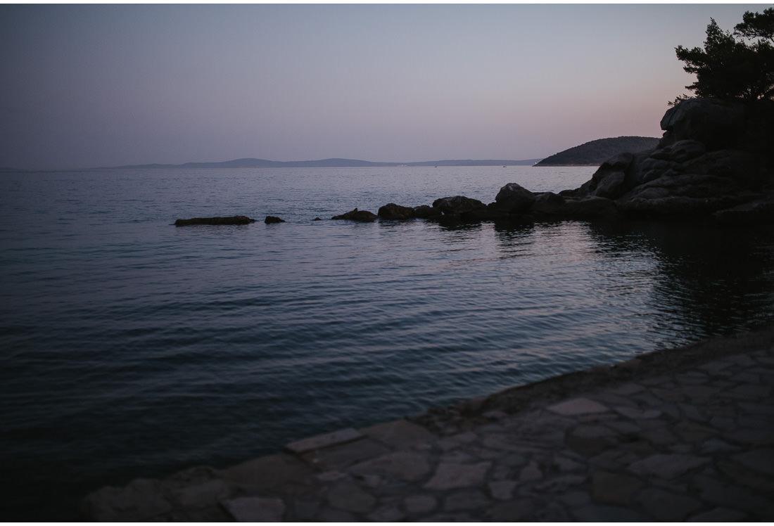 view from villa dalmacija at dusk