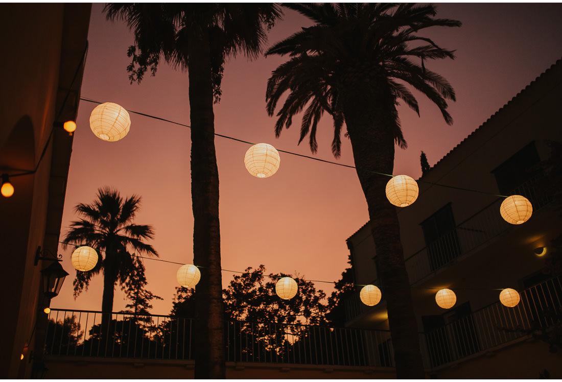 villa dalmacija lights at sunset