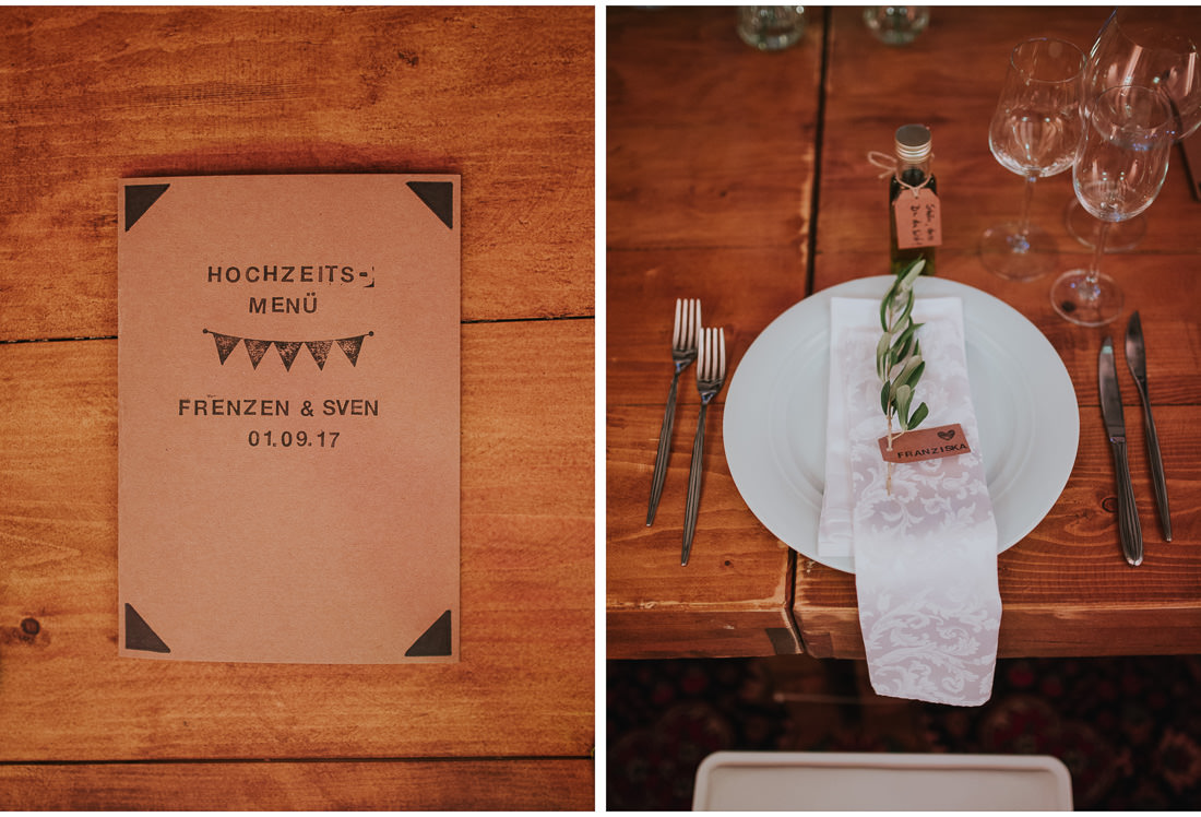 details on a wedding dinner table