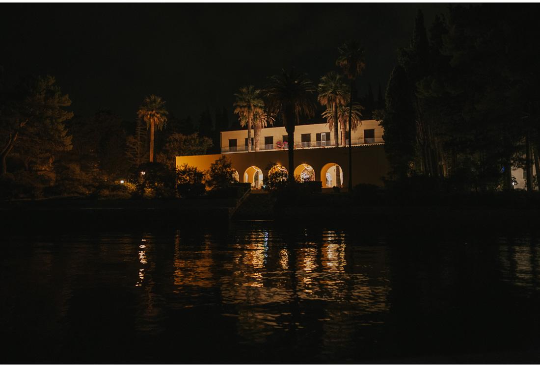 villa dalmacija at night