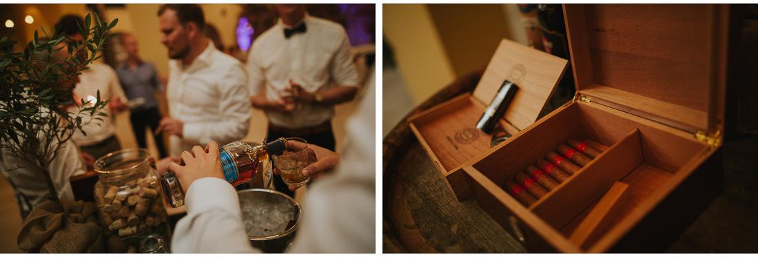 cigars and whiskey at villa dalmacija wedding