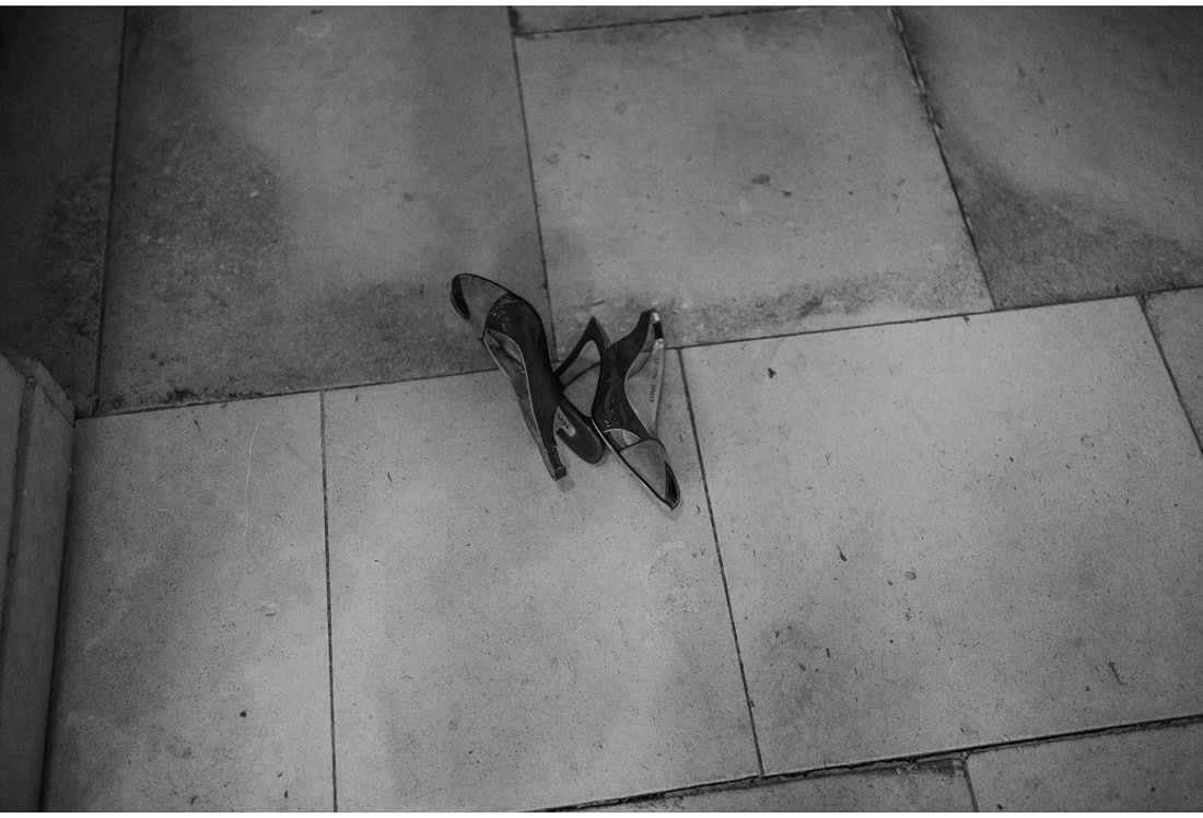 shoes on the floor of villa dalmacija