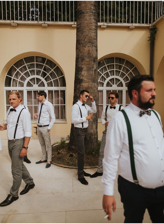 man at villa dalmacija wedding