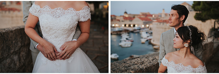 bride and groom in dubrovnik