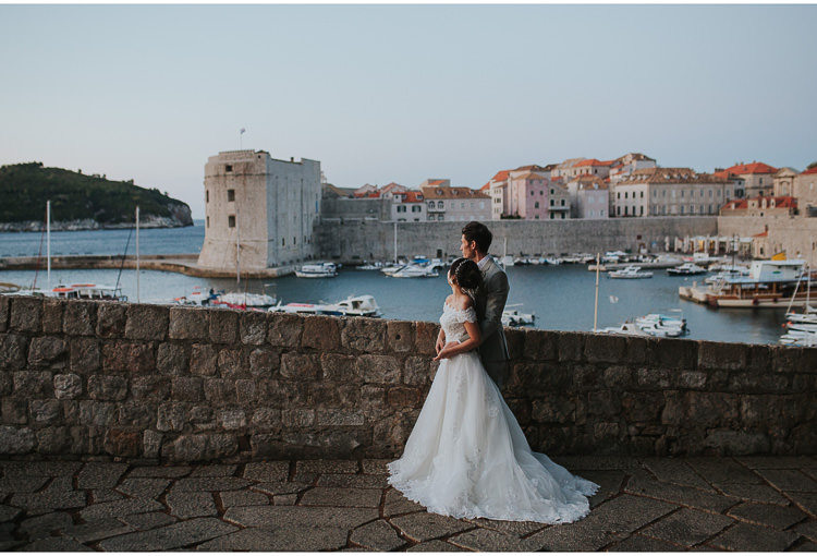 dubrovnik elopement early morning