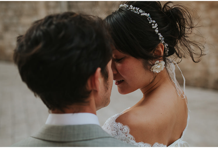 bride and groom closeup