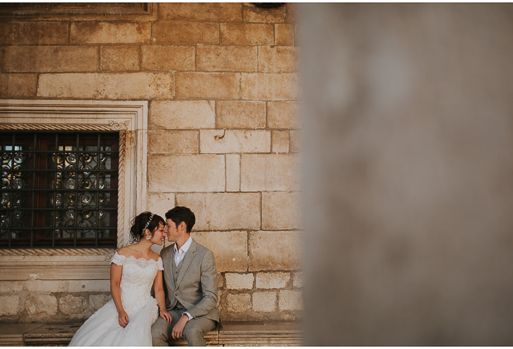 dubrovnik elopement bride and groom
