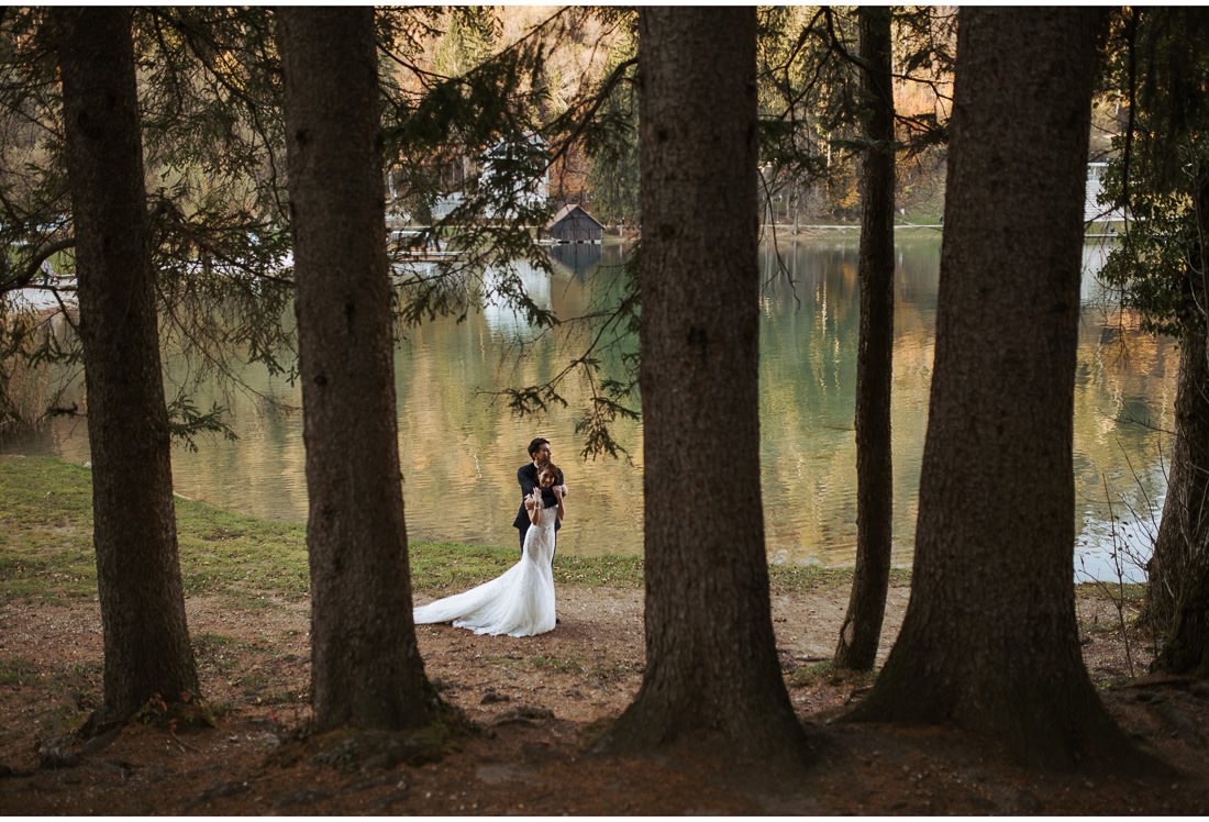 Lake Bled wedding shoot