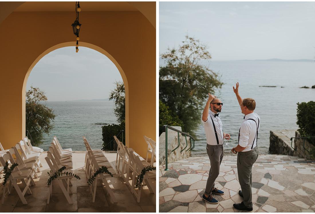 men waving at villa dalmacija